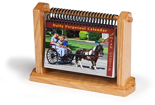 amish country daily perpetual calendar 4 x 6 with brand new sayings quote and 366 new photos from amish communities across the usa